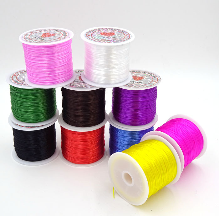 15m 1Roll Colorful Stretchy Elastic Cord Crystal String For Jewelry Making Beading Wire Fishing Thread Rope AGT-1(China (Mainland))