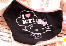 2014Factory directly hot sale high quality hello kitty underwear pure cotton cute expression women underwear 7010