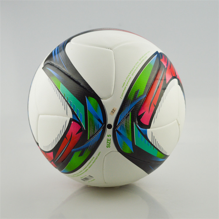 New skinning soccer ball Champion for league Flame Anti-slip granules Football TPU size 5 Soccer Ball Match Training Soccer Ball(China (Mainland))