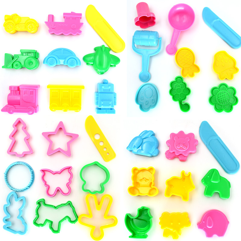 Arpa Play Dough Playdough Polymer Clay Plasticine Mold Tools Set Kit, 36pcs(China (Mainland))