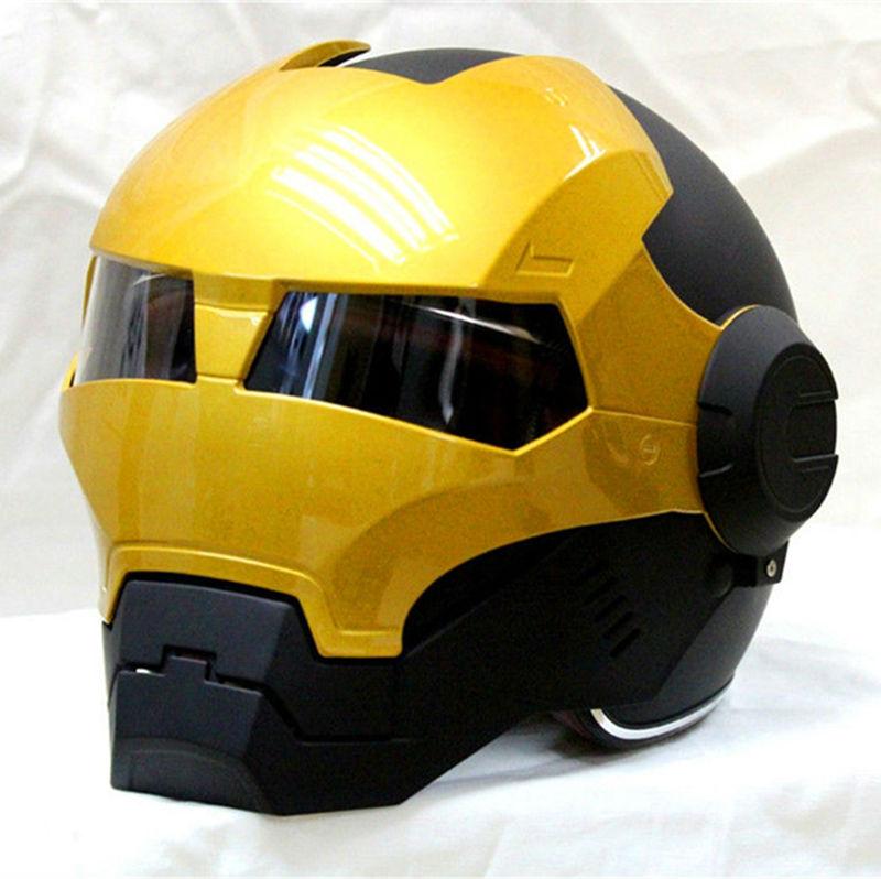 Black/ Gold MASEI IRONMAN Iron Man helmet motorcycle helmet mens womens half helmet open face helmet 610 ABS casque motocross(China (Mainland))