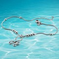 Free shipping 925 sterling silver anklets Korean version of the hot female models sweet bow anklets