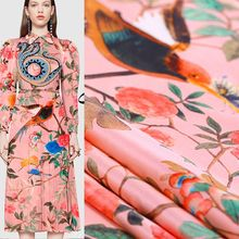 Buy Limited hot sale Digital painting mulberry silk natural stretch satin fabric shirt dress tissu au meter bright cloth DIY for $34.19 in AliExpress store