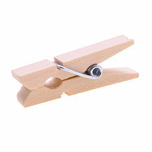 Buy 15pcs Wholesale Small Mine Size 35 * 9mm Mini Natural Wooden Clips Photo Clips Clothespin Craft Decoration Clips Pegs for $1.11 in AliExpress store