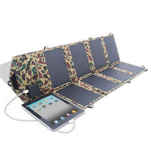 2016 Factory Directly Selling 28W 8 Pieces Foldable Solar Battery Charger Bag for Laptop/Battery Camouflage(China (Mainland))