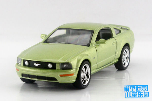 Free shipping green 1:38 Ford Mustang 2006 FOR GT alloy model cars toy(China (Mainland))