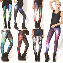 2014 New Fashion Women Space print Pants Galaxy Leggings fitness punk women legging(China (Mainland))