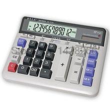 Large Display Screen 12 Digits Office Business Electronic Calculator Solar Dual Power Calculadora Finance Bank Calculator