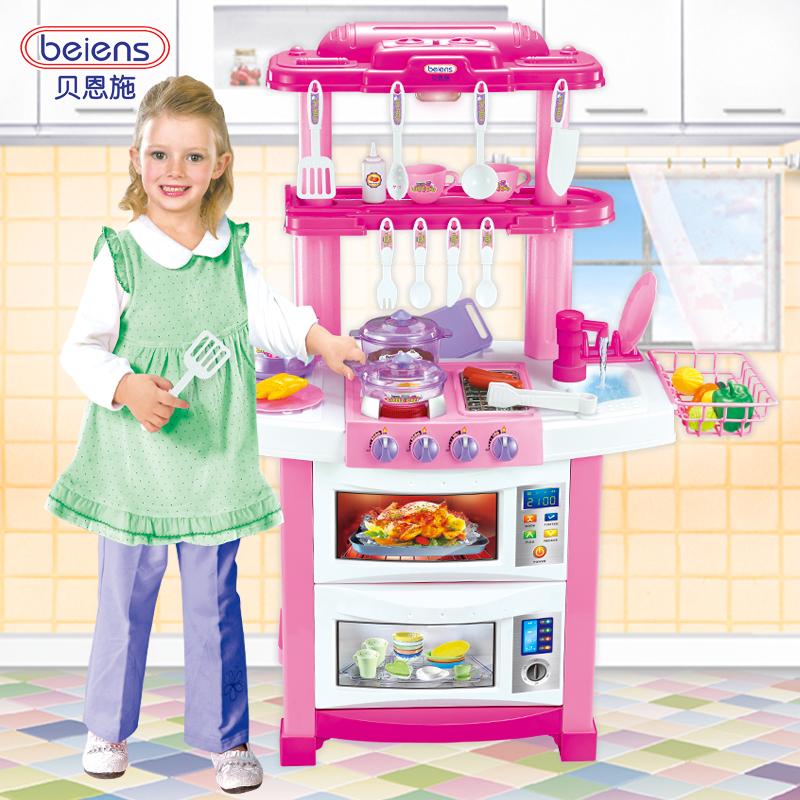 nueva llegada beiens chica beb de la msica infantil juguete grande modelo de simulacin de cocina cocinar sin caja origina