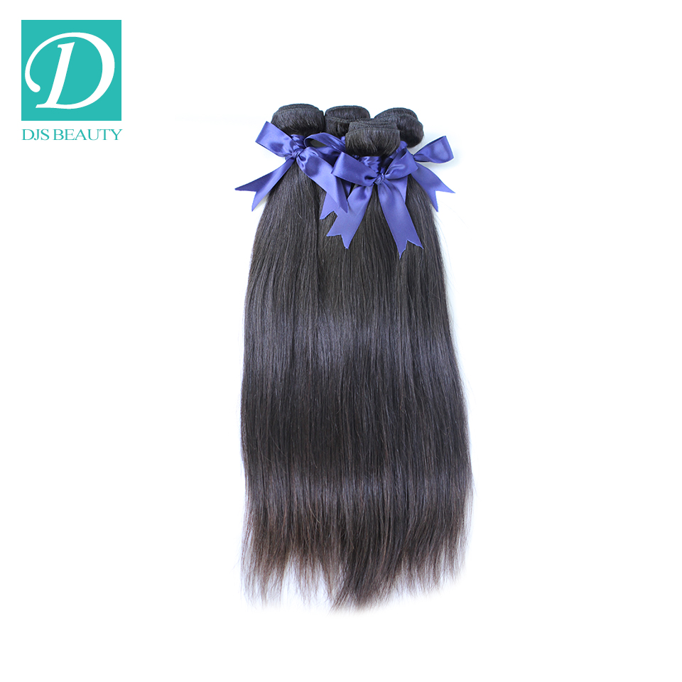 Malaysian Straight Virgin Hair Human Weave Extension Mix Length 8-24 Available Shipping Free - DJS Beauty Products Co.,Ltd store