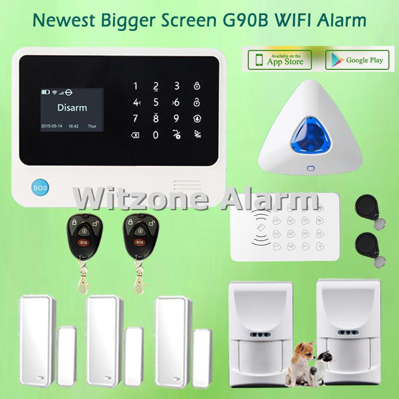 Pet Immune Home Alarm Security System WIFI GSM GPRS Alarma Casa Android IOS Smartphone APP Control, Dutch/Spanish/Russian menu(China (Mainland))