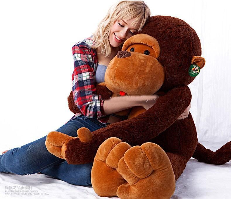 80CM stuffed monkey toy plush monkey Giant monkey stuffed animal Valentine gift for Girls Free shipping(China (Mainland))