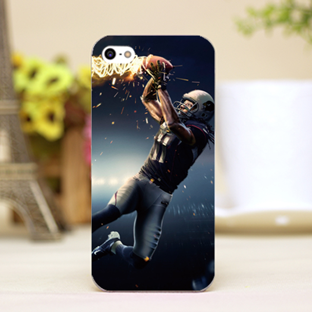 pz0018-3-2 America football Design Customized cellphone transparent cover cases for iphone 4 5 5c 5s 6 6plus Hard Shell(China (Mainland))