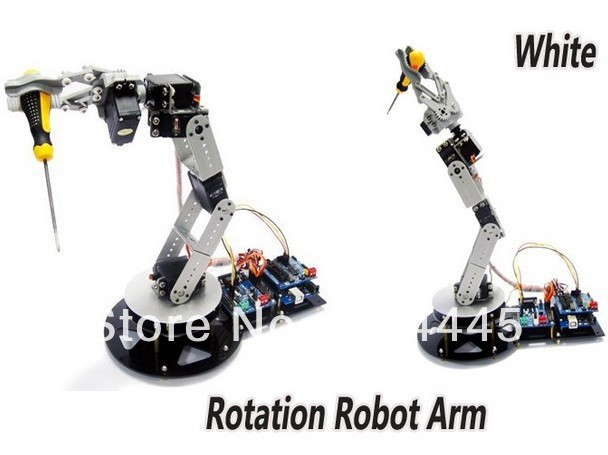 Robot Arm Clamp Claw Turntable Base & 6 Servo Complete Alloy sets Arduino