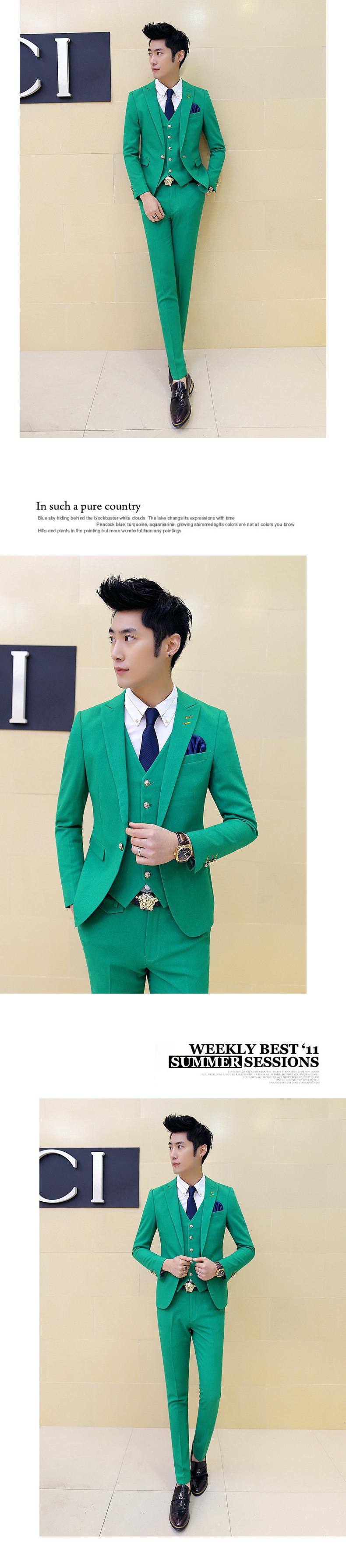 2018 Wholesale Jacket + Pants Wedding Suits For Men Terno Korean ...