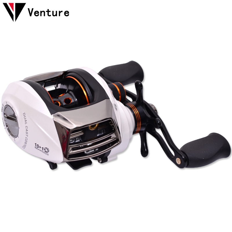 Venture trulinoya sp150 10 1bb 6 3 1 fishing baitcasting for Left handed fishing reels
