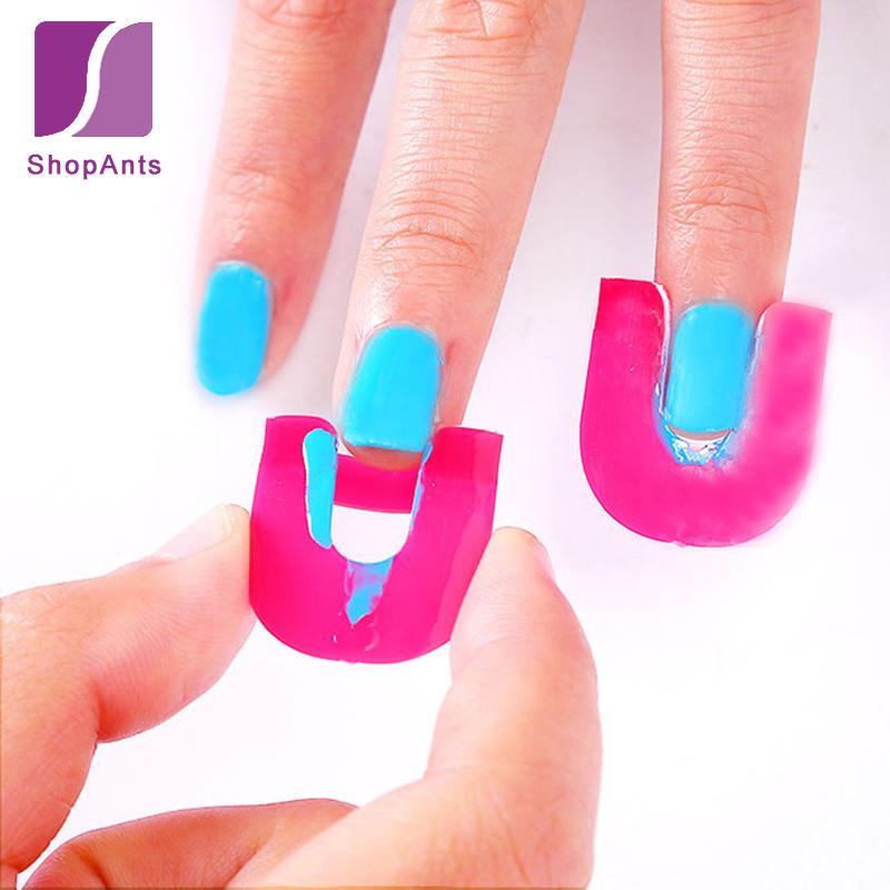 26 Pcs 1 Set/Pro Manicure Finger Nail Art Case Design Tips Cover Polish Shield Protector Tool