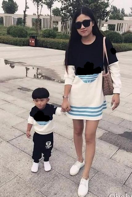 2016 мода длина sleve мама папа сын дочь розовый черный майка хлопок мать и отец ...