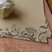 17.5x23.5cm Free Shipping 40pcs/lot Retro Style Flower Bird Pattern Kraft Letter Paper Writing Paper Love Season Y146(China (Mainland))