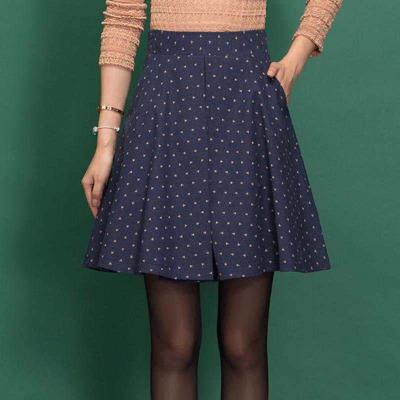 Winter Skirt Women Printing A-line Winter Skirt Womens Clothing High Waist Fashion Pleated Skirt Saia Feminino Pocket C1360Одежда и ак�е��уары<br><br><br>Aliexpress