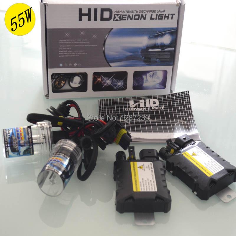 H1 55W HID Xenon Kit Car Headlight Auto lamp mini Ballast 55w H11 h4-2 H7 H9 H1 9006 Bulb 4300K 6000K 8000K 10000K 12000K 12V(China (Mainland))