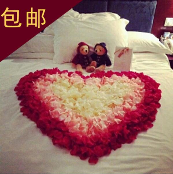 Silk Rose Flower Petals Leaves 100pcs Artificial Flowers Petals Wedding Table Decorations Event Party Supplies Confetti