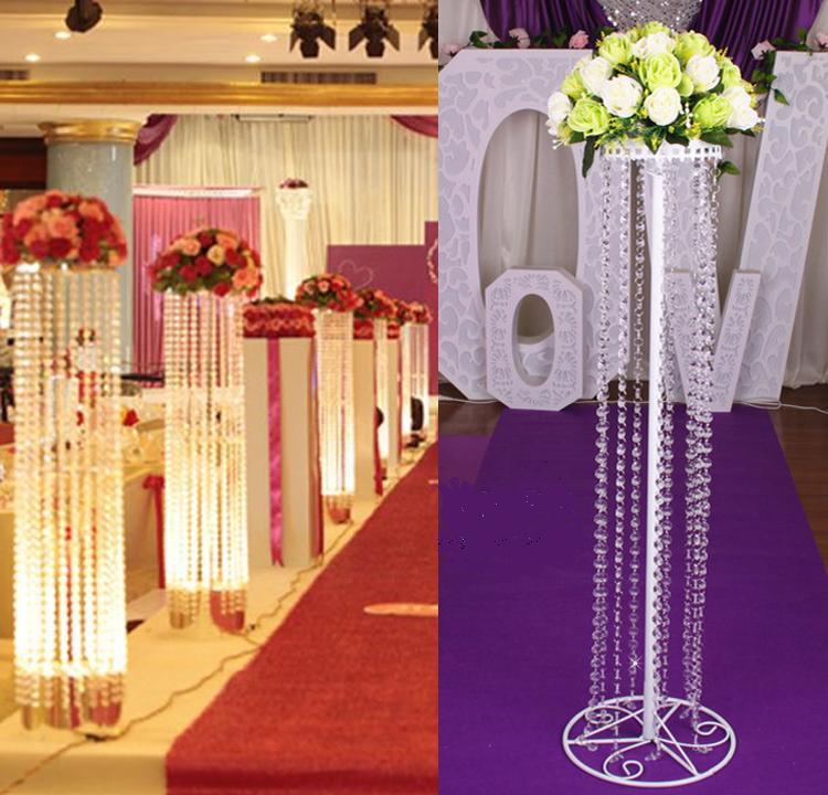 150cm Fashion Luxury Acrylic Crystal Wedding Road Lead Wedding Centerpiece Event Party