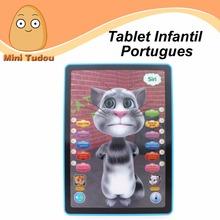 Neue 3d katze brinquedos educativos tablette infantil educativo portugues Kind kinder lernen maschine lernspielzeug 7-Jährigen(China (Mainland))