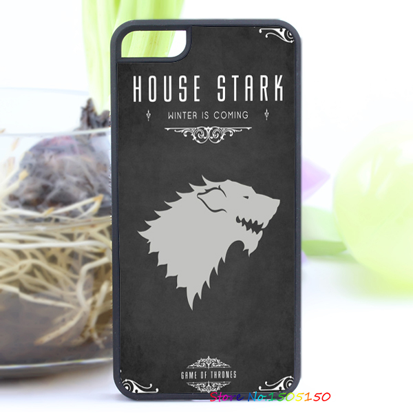 House Stark game of thrones fashion cover case for iphone 4 4s 5 5s 5c for 6 & 6 plus(China (Mainland))