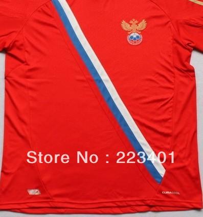 Top Thai quality 12-13 Russia home soccer team jersey 2012/2013 red football shirt uniform set kit(China (Mainland))