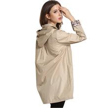 Women Fashion Hooded Raincoat Girls Outdoor Travel Waterproof Riding Cloth Rain Coat for Women Poncho Long Rainwear Rain Jacket