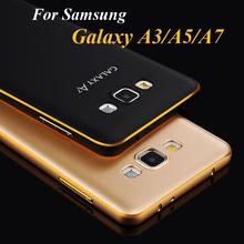 Чехол бампер для Samsung Galaxy A3 A5 A7 A3000 A5000 A7000 алюминиевый обод