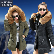 Manteau Femme Winter Jacket Women Coats Parka Jackets Female Ukraine Canada Long Woman 2015 Hooded Fur Collar Down Clothings XXL