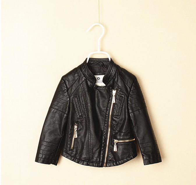 Brand Za Spring Autumn Fashion Girls Jackets &amp; Coats Mandarin Collar PU Leather Jacket Zipper Children Clothes Girl Outerwear<br><br>Aliexpress
