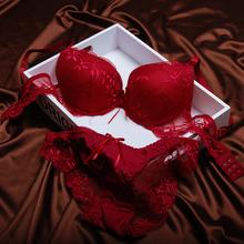 New Allura Red Brand Underwear Women Sexy Seamless lace Bra Sets  Fashion Push Up Bra Free Shipping Support wholesale(China (Mainland))
