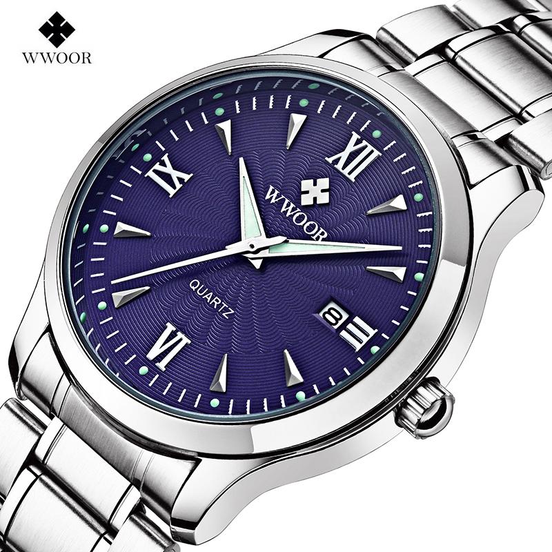 2016 New Luxury Brand Men's Watch Men Quartz Date Clock Male Luminous Hour Silver Stainless Steel Casual Sports Wrist Watches