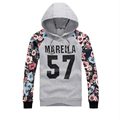 Spring Mens Hoodie Fashion Clothing Floral Printing Outerwear Autumn Japanese Hooded Sweatershirt Black Jackets Casual Grey