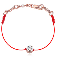 SHDEDE New Fashion Chinese Red String Bracelets National Characteristics Rose Gold Plated Crystal Bracelets For Women Gift *82