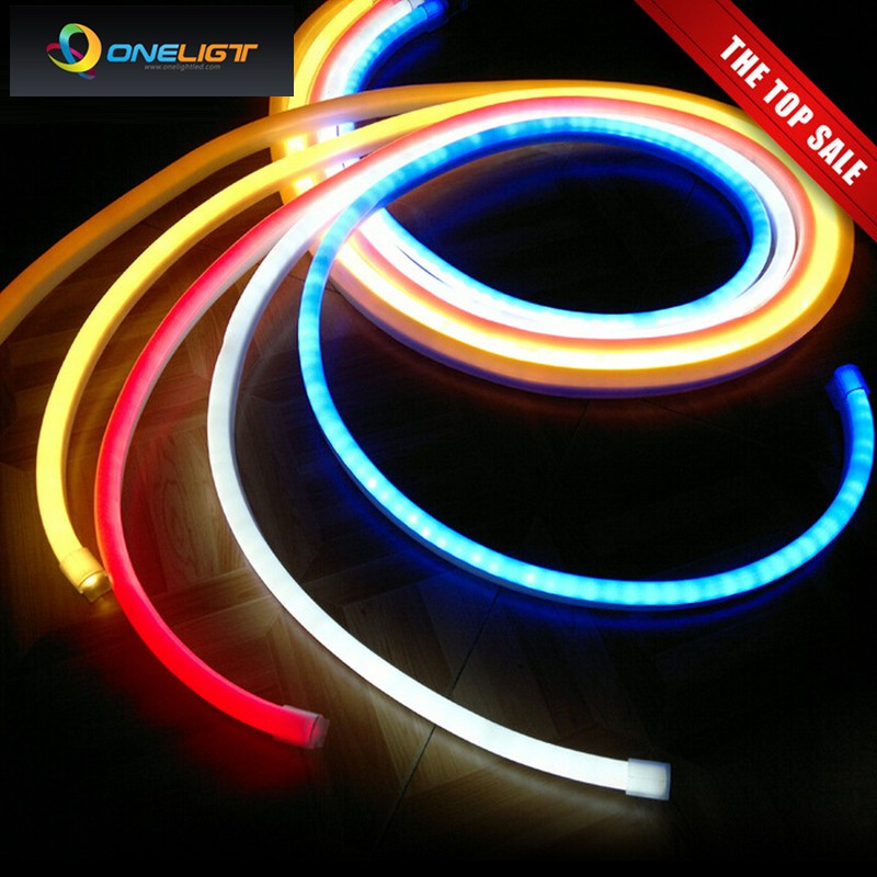 220V 240V Flexible led neon flex rope bar light SMD 2835 outdoor Indoor white RGB soft tube strip lights(China (Mainland))