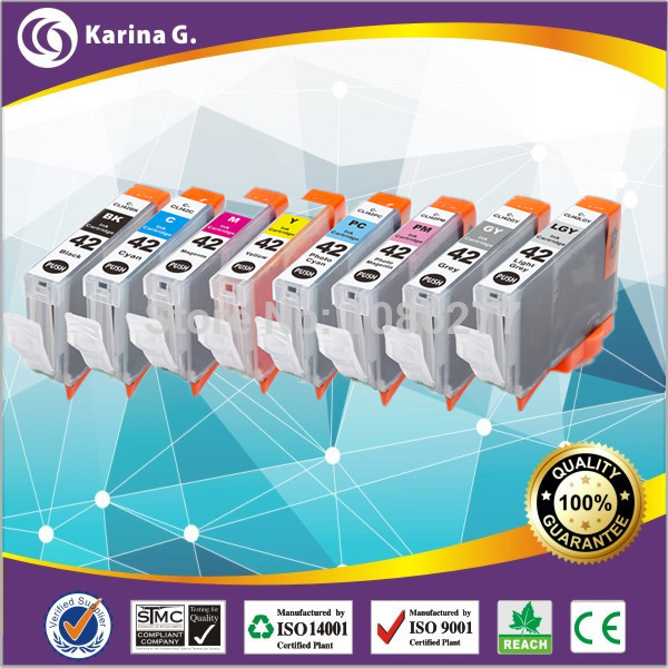 ink cartridge for  canon Pixma Pro-100 inks CLI-42 CLI42 CLI 42 comaptible ink cartridge one set 10pcs  high quality<br><br>Aliexpress