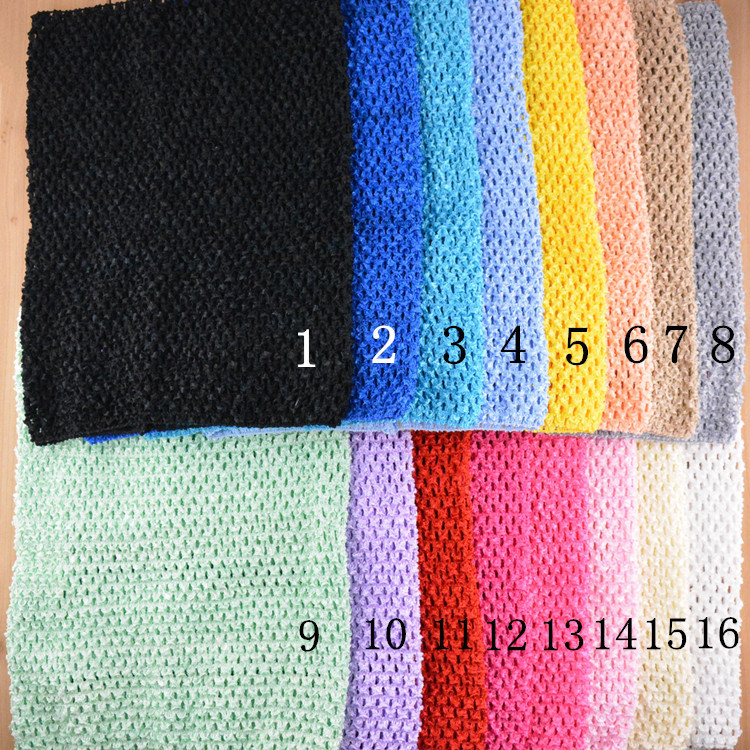 """12"""" 24x32cm Large Elastic Crochet Headbands For Kids Tutu Tube Top Chest Wrap Wide Baby Girl Headwear Hair Accessories 10Pcs/lot(China (Mainland))"""