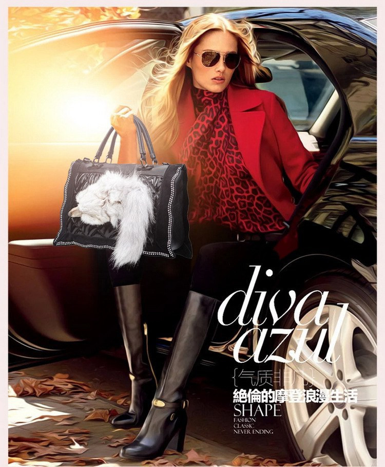 2015 Fashion Pu Leather Portable Shoulder Bag Hot Fox Bag New Women