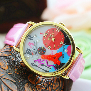 mini world brand wholesale Polymer Clay Handmade Korea Fashion wrist Watch japan movt mini world factory(China (Mainland))