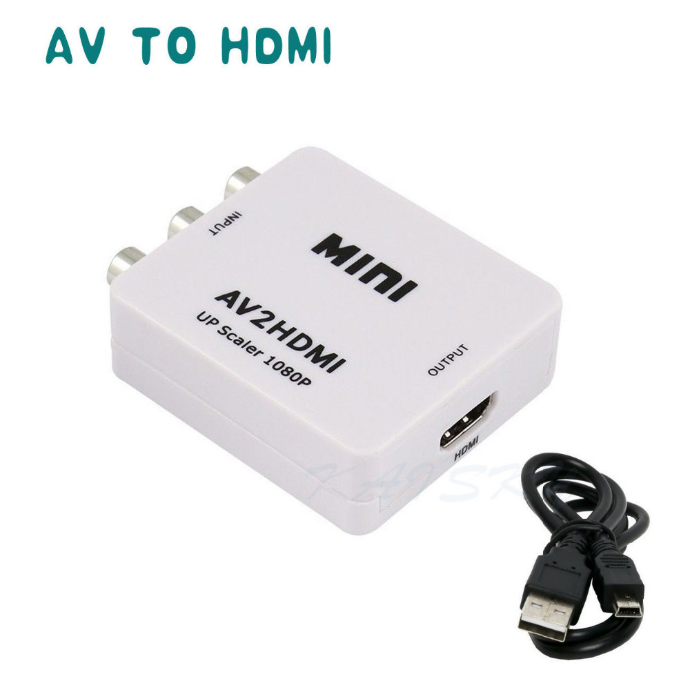 Гаджет  New Arrival Mini Composite AV CVBS 3RCA To HDMI Video Converter Adapter 720p 1080p Upscaler Free shipping None Бытовая электроника