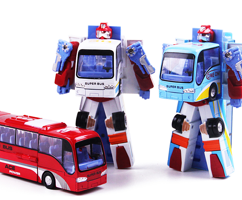 Bus model deformation bus bus toy cars people simple deformation toys for children(China (Mainland))