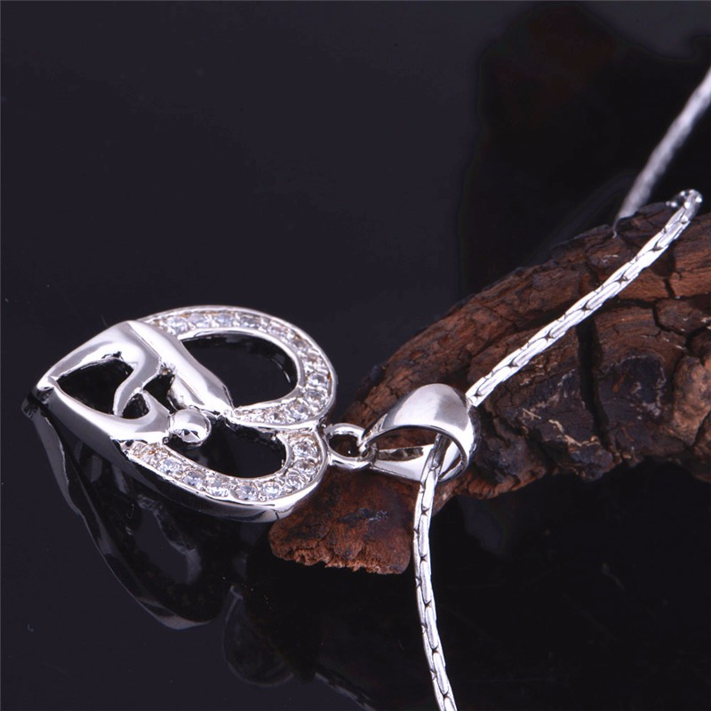 HTB1V4MkNpXXXXX XFXXq6xXFXXXQ - Uloveido 10% Off Mothers Day Gifts for Mom Silver Color Necklace Fashion Necklaces & Pendants for Women Girls Free Shipping N595