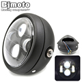 Universal Round 6 1 2 Aluminum Motorcycle Headlight LED Hi Lo Beam Motorbike Lamp Phare Moto