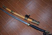 Collectable WWII Japanese Officer saber Katana/ DAO,Handmade,yellow Shark skin sheath&dragon&Kirin