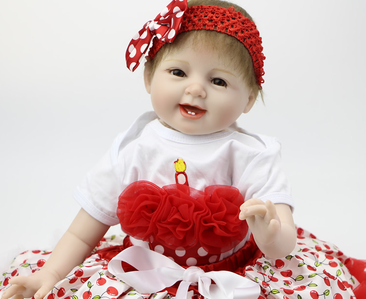 Silicone NPK Doll 22Inch Reborn Baby Doll For Girl Look Real  Baby Alive Doll  Lifelike Baby Reborn Lovely Hobbies Toys(China (Mainland))
