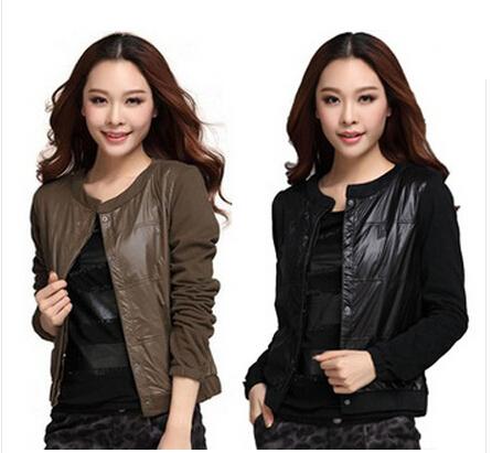 2014 New Spring Autumn Outerwear Fashion Varsity Patchwork Ladies Bomber Jacket Women Female Plus Size Coat Xxxl 4Xl 5Xl 5515 - European and American fashion clothes head office store